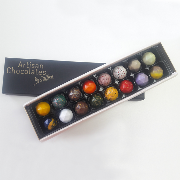box of 16 luxury handmade truffles