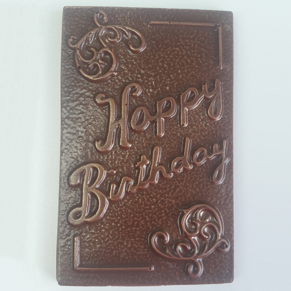 chocolate happy birthday card