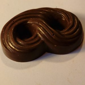 chocolate double swirl shape